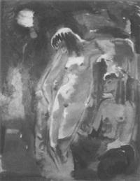 stehender und sitzender weiblicher akt by else weber