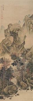 秋山烟霭 by wen boren