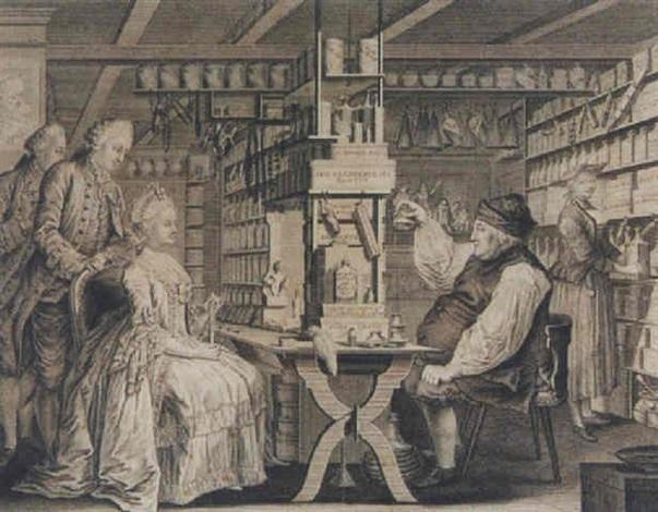 la pharmacie rustique ou représentation exacte de lintérieur de la chambre où michel schuppach tient ses consultations by gottfried locher