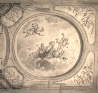 design for ceiling fresco by elias van nymegen