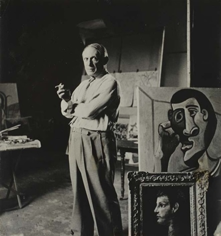 picasso in his studio by lee miller