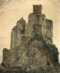 burgruine by hans adolf buhler