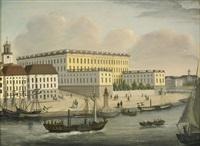 vy mot stockholms slott från skeppsholmen by axel otto morner