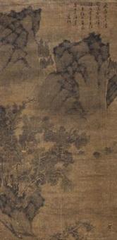 古树飞泉图 by wen zhengming