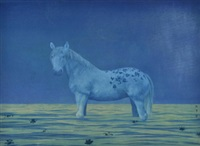 青花马 (horse with bule and white pattern) by xu lei