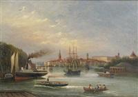 stockholms inlopp mot slottet by gustaf wilhelm palm