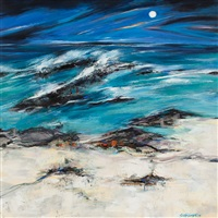 storm tide, tiree by shelagh campbell