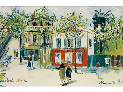 montmartre by maurice utrillo