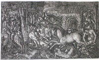 la chasse royale assaillie par une licorne by jean duvet