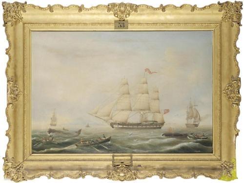 british whaling ships (britische walfangschiffe) by carl justus harmen fedeler