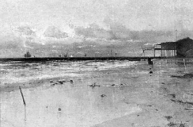 meeresküste mit promenadensteg by eduard fischer