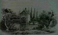 ansichten u.a. vom trappensee-schlosschen bei heilbronn, vom rothenberg... by carl heess