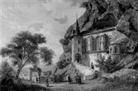 die felsenkirche in oberstein-nahe by johann-rudolf holzhalb