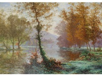 a misty autumn morning by albert gabriel rigolot