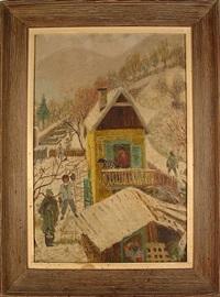 rural scene by axel leskoschek