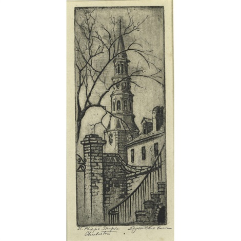 st philips steeple charleston by elizabeth oneill verner