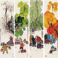 四季人物 (character in four seasons) (4 works) by ma haifang