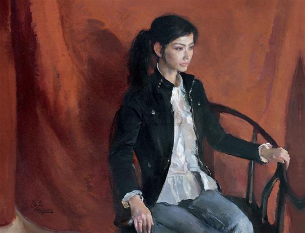 portrait of a girl by xia baoyuan