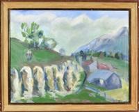 landschaft mit hocken und blick auf den gailenberg by kilian lipp