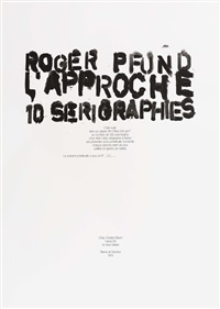 l'approche (bk w/10 works) by roger pfund