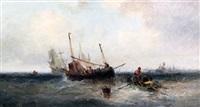 fishing boats off the coast by william edward webb