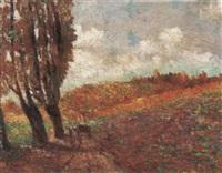 provencialische landschaft by louis hector leroux