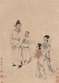 东山丝竹图 (musicians at dongshan) by xiao chen