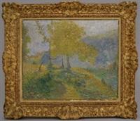 paysage avec une l'arbre by emile ancelet