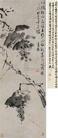 葡萄图 ink grape plants by xu wei