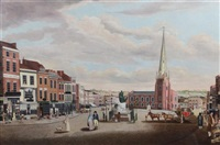 the high street, birmingham, (the bull ring) by joseph constantine stadler