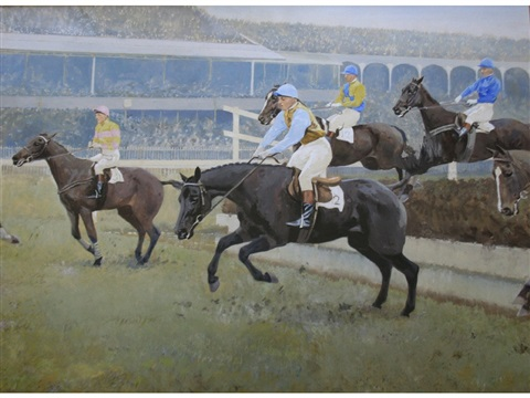 the grand national fulke walwyn riding to victory on reynoldstown 2 works by charles walter simpson