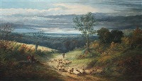 a rest by the wayside by william linnell