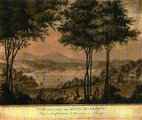 vue prise près de hèningslöst (after c.a. lorentzen) by johan jacob georg haas