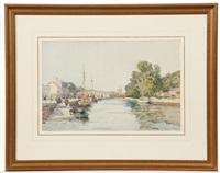 a continental river scene by robert weir allan