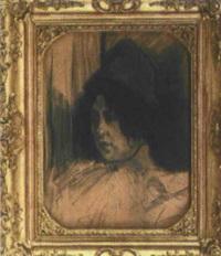 portrait einer frau by steinlen