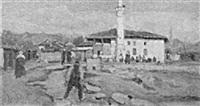 blick in die straße von üsküb in mazedonien mit der moschee agilbalaban by arno haag