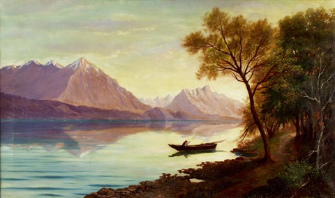 angler auf dem thuner see by august haas