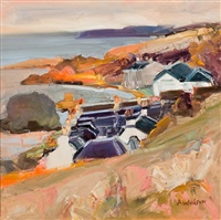 rooftops, dunure by alma wolfson