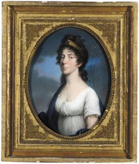 portrait of friederike luise wilhelmine, hereditary princess of baden, wife of karl georg august by johann heinrich schröder
