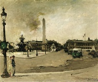 paris. blick auf den place de la concorde by georges guido filiberti