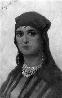 portrait einer orientalischen dame by minna elizabeth roberth