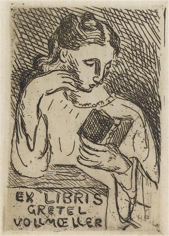 folge von fünf ex libris 5 works by hans purrmann