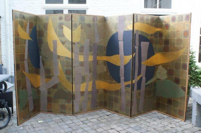 composition folding screen by sofu teshigahara