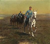 preußische kavallerie by friedrich wilhelm fischer-derenburg