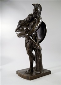 a warrior carrying a wounded youth from the field of battle 1878 by sir william hamo thornycroft