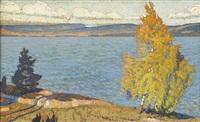sjön racken om hösten by fritz lindström
