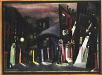 stadtbild bei nacht by paul seltenhammer