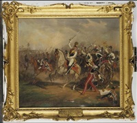 wilhelm, duke of brunswick, in the battle of leipzig (wilhelm herzog von braunschweig in der schlacht zu leipzig) by carl alberti
