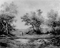 bewaldete landschaft by edmond luniot