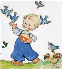 feeding the birds by mabel lucie attwell